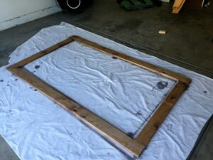 How to make your own DIY mirror frame, a tutorial featured by top US DIY blog Domestic Blonde