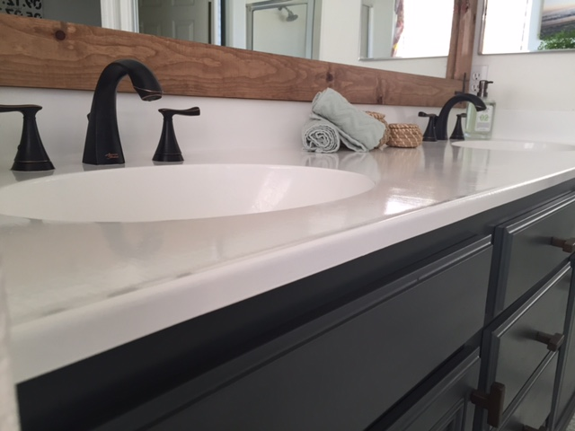 How to Refinish Bathroom Countertops: a Step by Step Tutorial