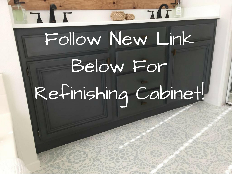 Refinishing Bathroom Cabinets Tutorial