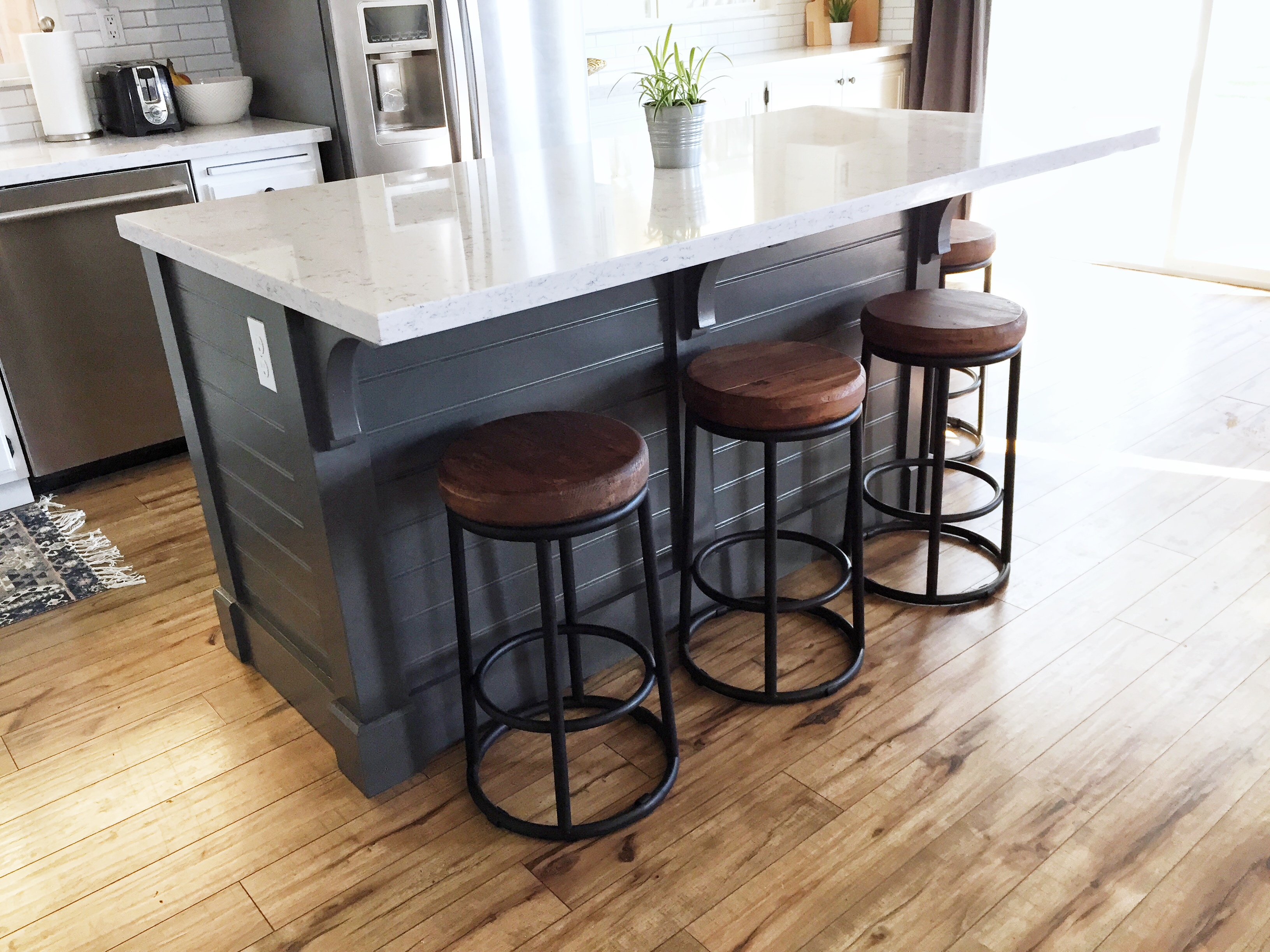 Kitchen island make it yourself save big domestic for How to build a kitchen island with seating