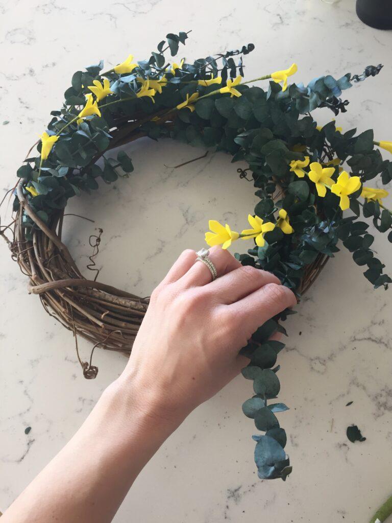 DIY Spring Wreath Tutorial