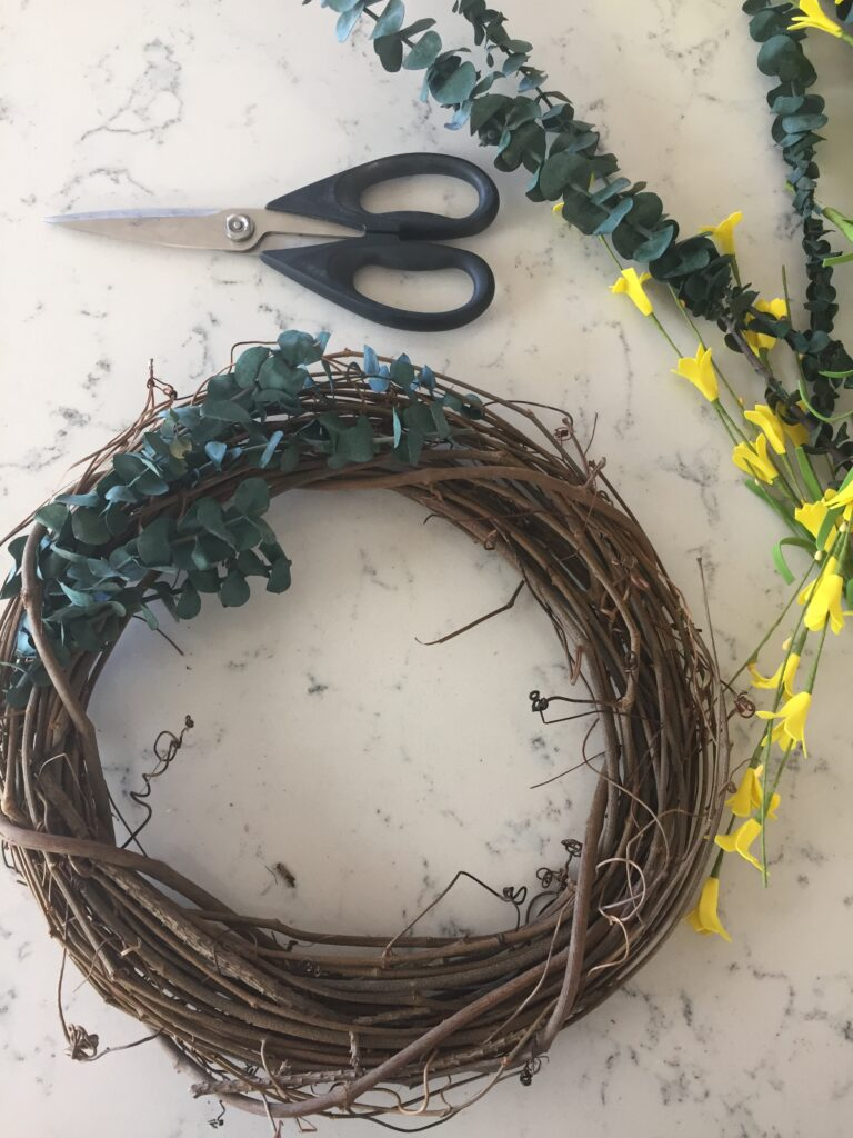 DIY Spring Wreath Tutorial featured by top US lifestyle blog, Domestic Blonde