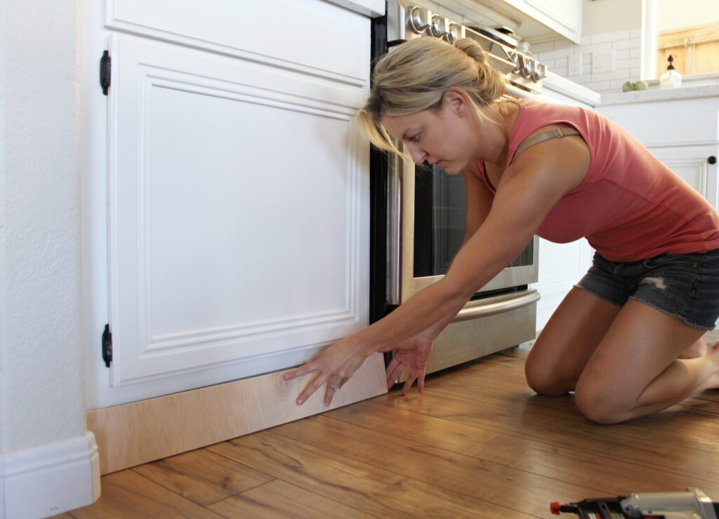 DIY Kitchen Update: Cabinet Trim Tutorial
