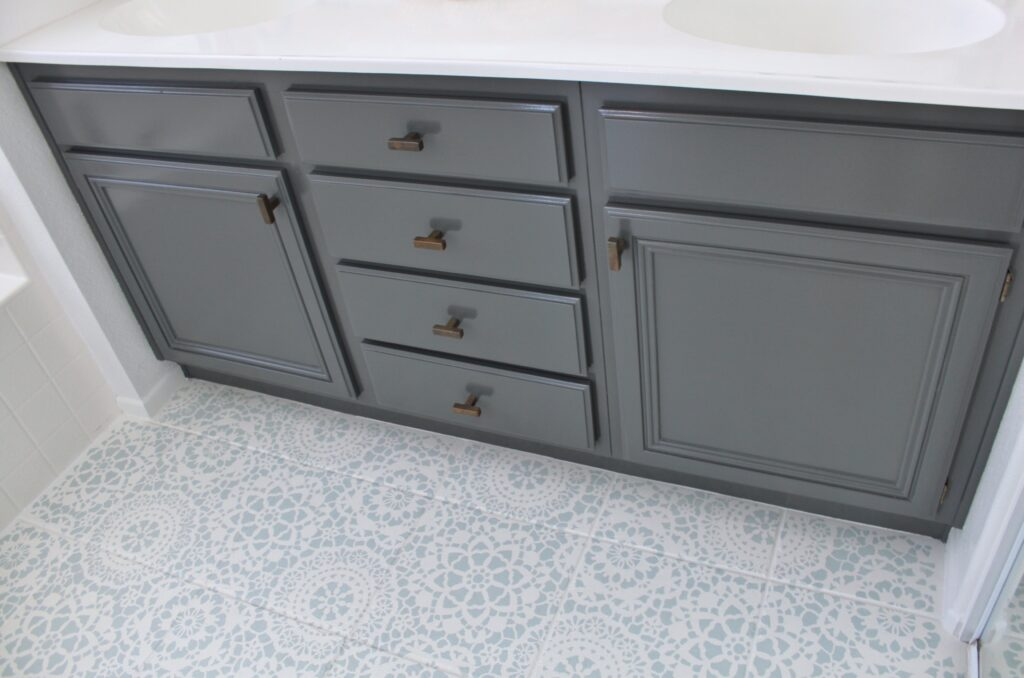 UPDATE: THIS is how to Refinish Bathroom Cabinets for Professional Results