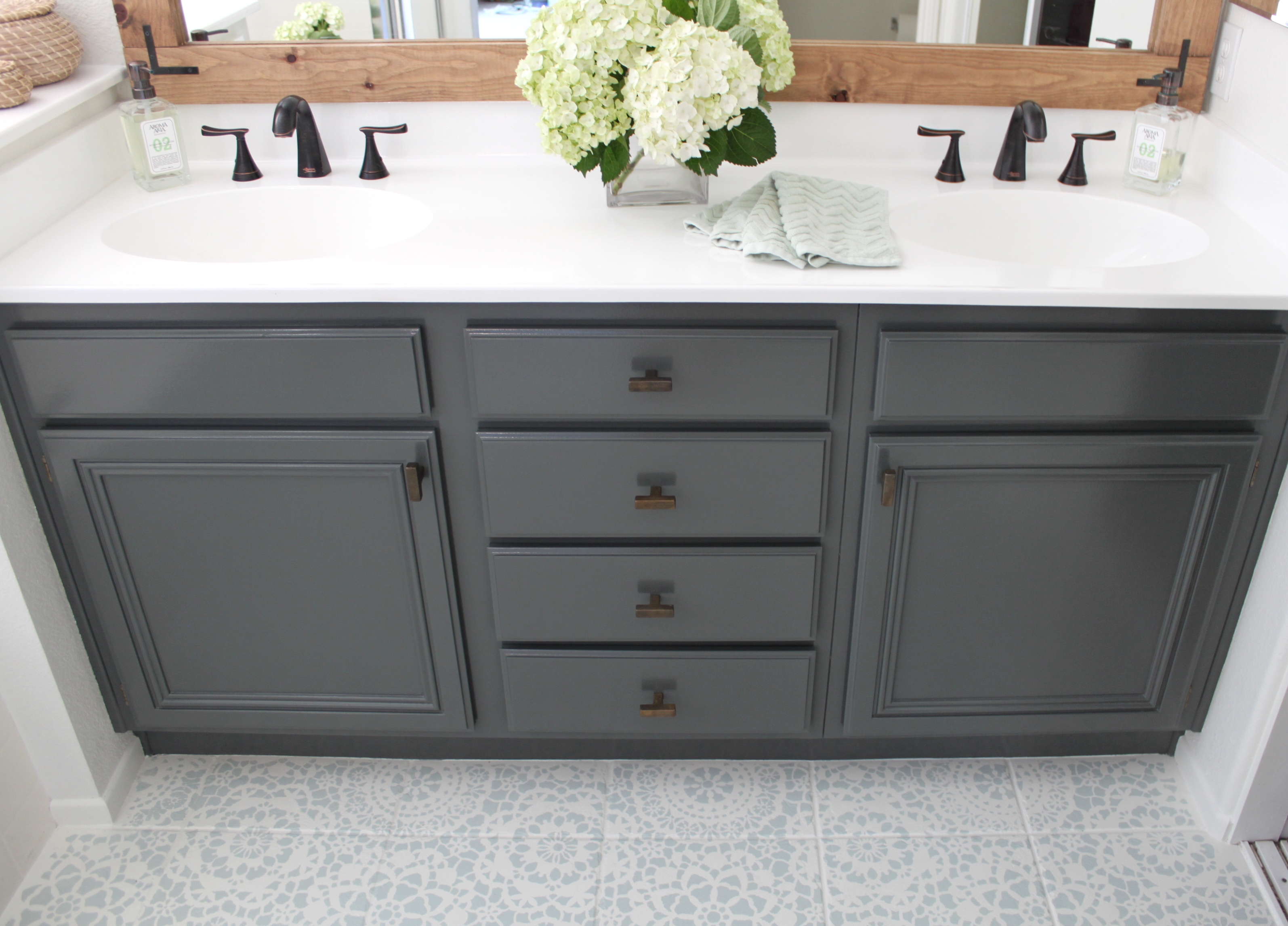 How To Refinish Bathroom Cabinets Diy
