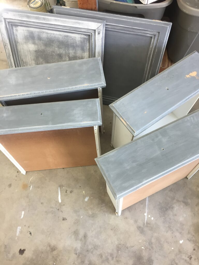 How to refinish bathroom cabinets with professional results, featured by top DIY blog, Domestic Blonde: sanding