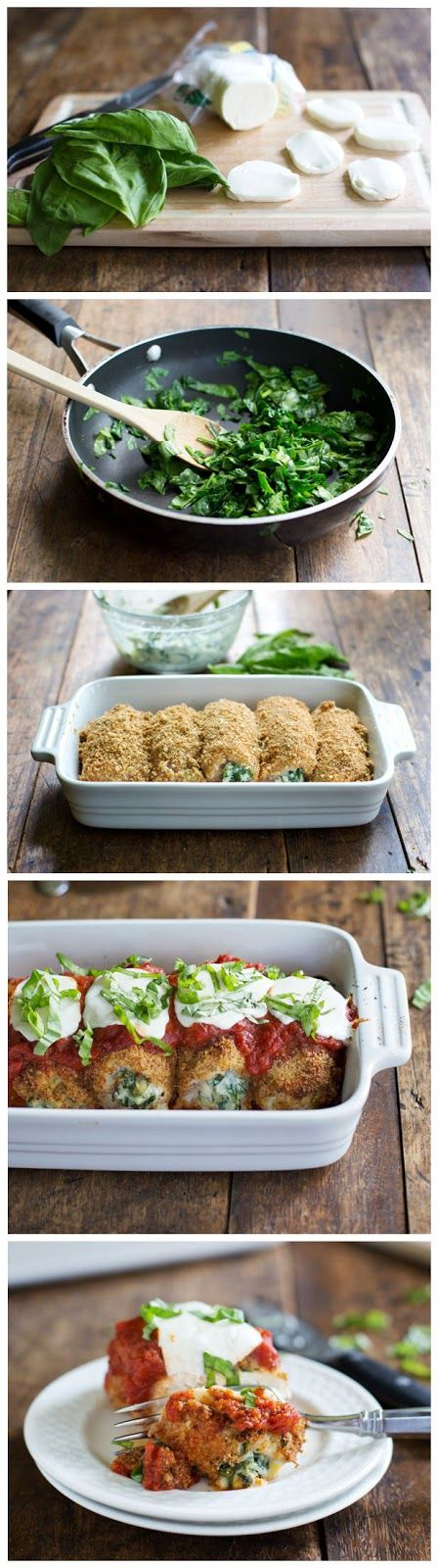 Top 5 Best Pinterest Recipes featured by top US lifestyle blog, Domestic Blonde: mozzarella chicken roll