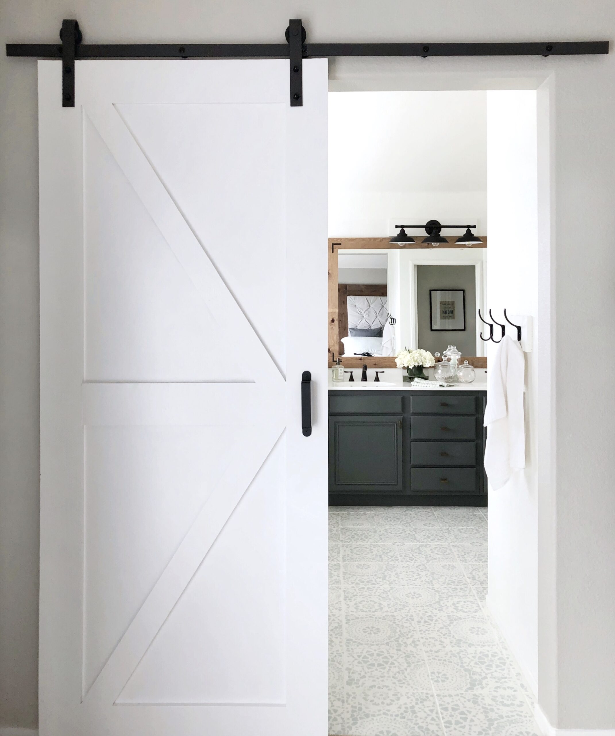 A Surprisingly Simple DIY Bathroom Barn Door