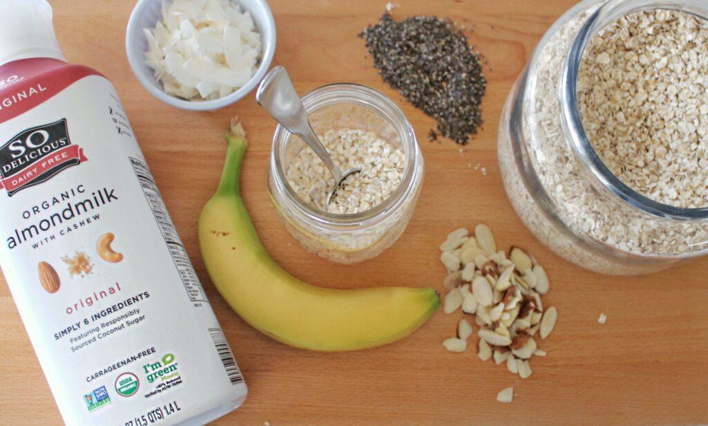 Banana, Coconut & Chia Overnight Oats
