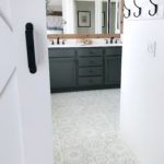 Stencil Tile Floor: One Year On
