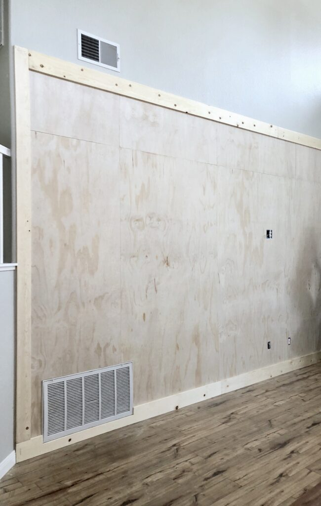 DIY Board and Batten Wall tutorial featured by top DIY blog, Domestic Blonde: during
