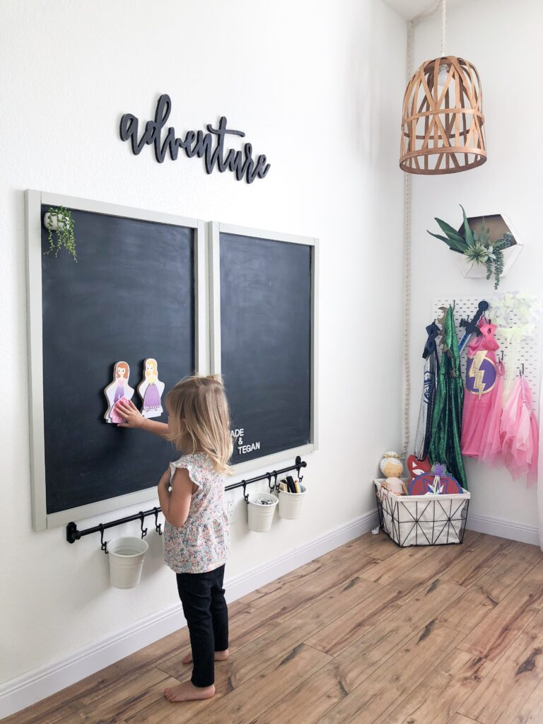 DIY Magnetic Chalkboard featured by top DIY blog, Domestic Blonde