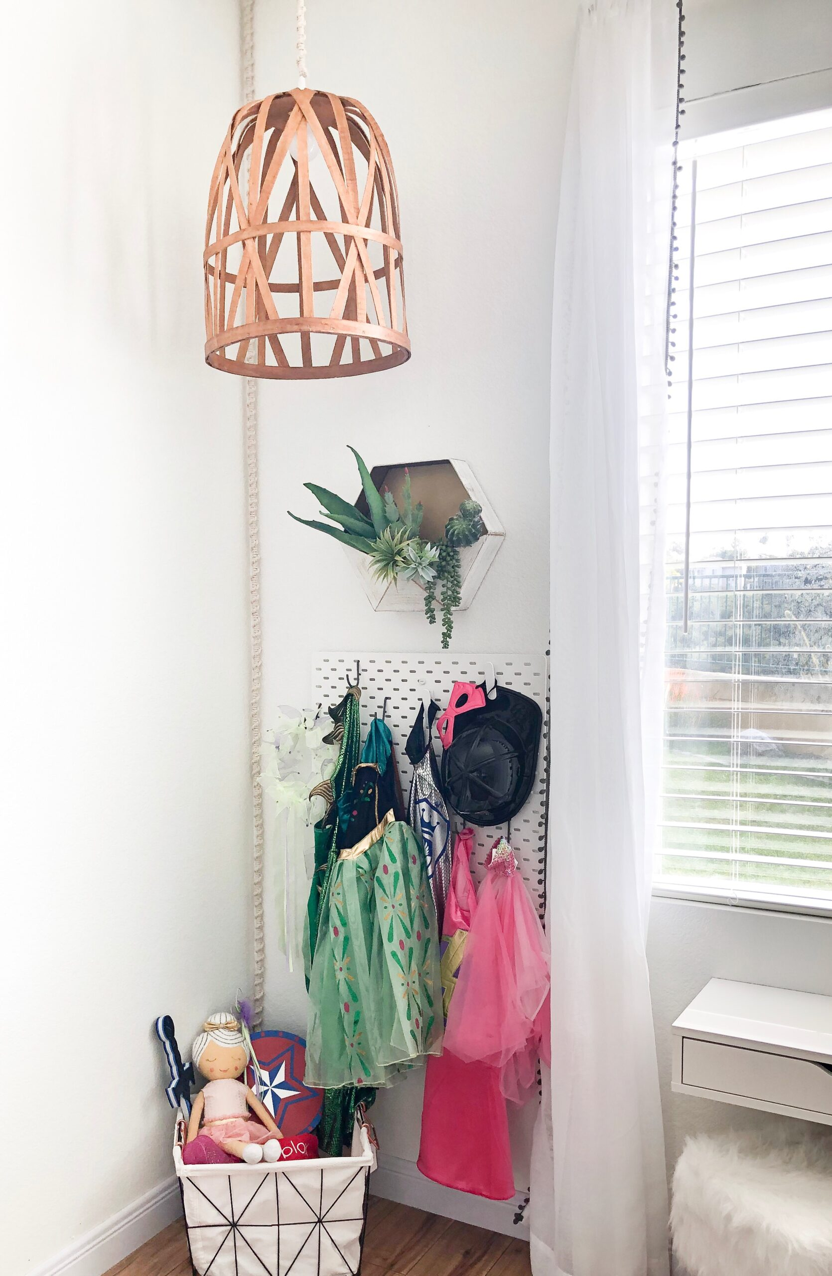 DIY Basket Light & Macrame Cord