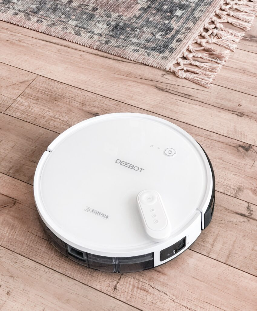 spring essentials for your home featured by top US lifestyle blog, Domestic Blonde: image of Ecovacs DEEBOT 600