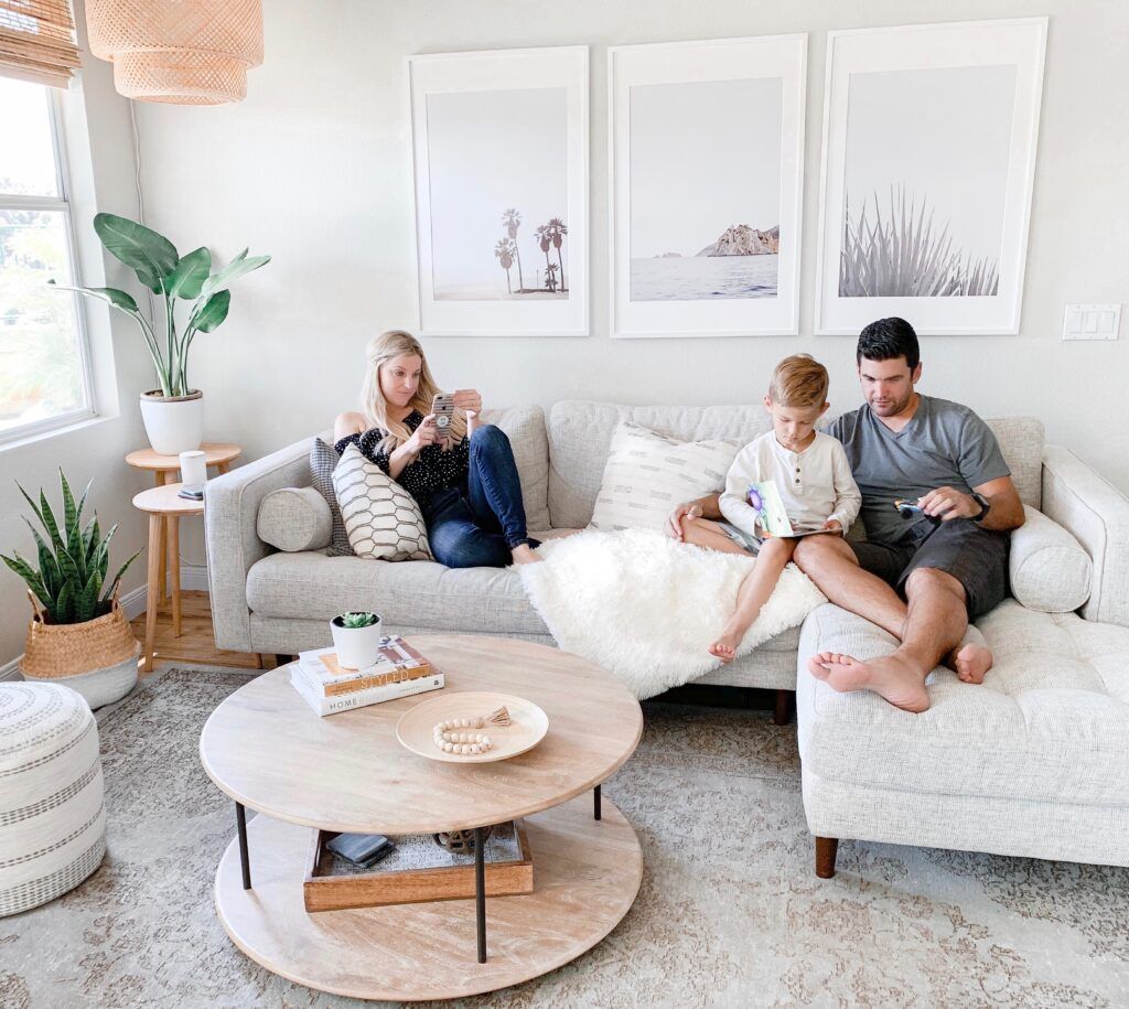 The Ultimate Sectional Sofa Guide with Article Furniture featured by top US life and style blog, Domestic Blonde