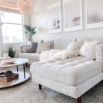 Article Sectionals review featured by top US lifestyle blog, Domestic Blonde: image of the Sven birch ivory sectional sofa available at Article.