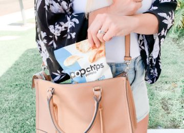 Popchips: quick and easy back to school snack ideas featured by top US lifestyle blog, Domestic Blonde