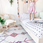 DIY Twin Platform Bed Frame tutorial featured by top US DIY blog, Domestic Blonde.