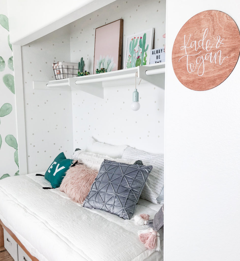 Top 5 Home Decor Stencils featured by top US home decor blogger, Domestic Blonde: Firefly Wall stencil