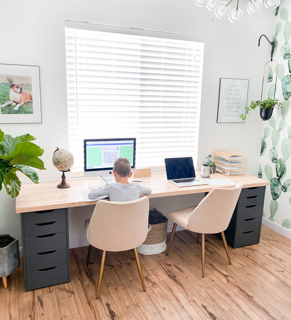 A Simple Home Office Desk For Two