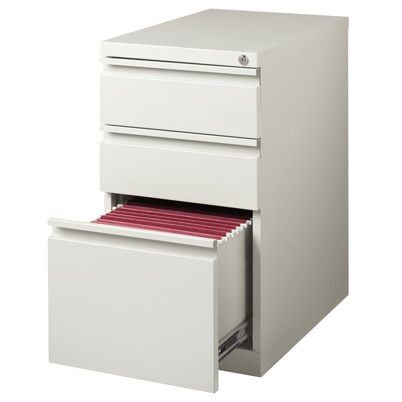 DIY Home Office Desk by popular San Diego DIY blog, Domestic Blonde: image of a Premo 3 drawer mobile vertical filing cabinet.